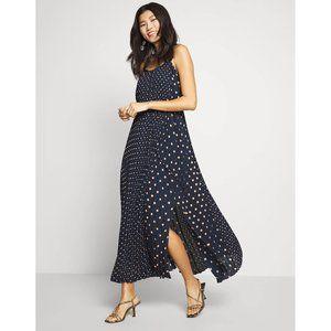 Polka Dot Pleated Maxi Dress; NWT